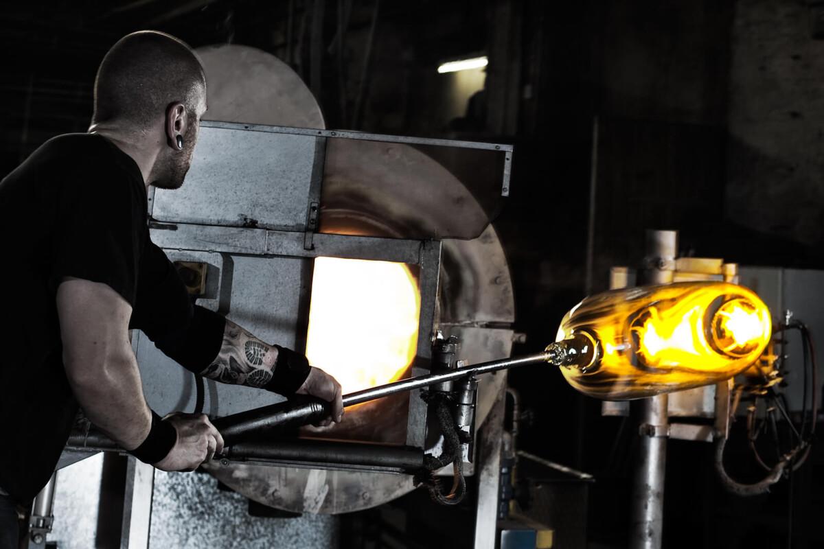 Historische Gläser von Sollingglas für die Restauration, auf Wunsch auch mundgeblasen
