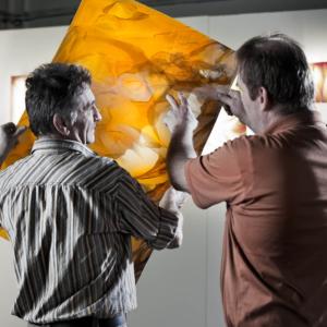 Qualitätsprüfung der Glastafeln