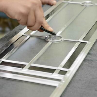 Türfüllungen aus Glas von Sollingglas